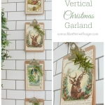 Vintage Vertical Christmas Garland