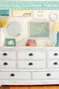 White-Distressed-Chalky-Paint-Dresser-Makeover-at-The-Happy-Housie-label