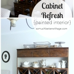 Cabinet Refresh – Painted Interior