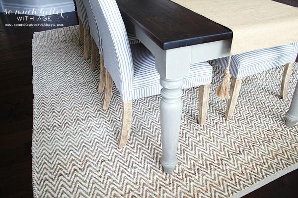 Jute & chenille rug | somuchbetterwithage.com