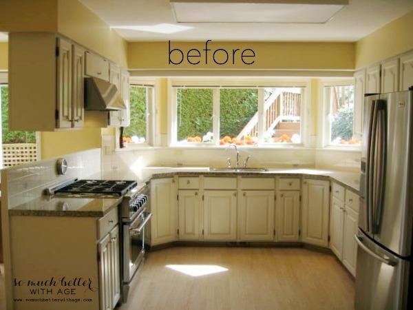 kitchen before | somuchbetterwithage.com
