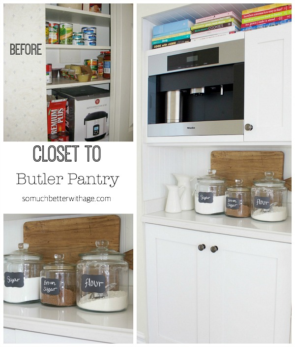 Closet to butler pantry | somuchbetterwithage.com