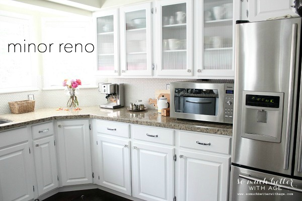 kitchen with minor renovation | somuchbetterwithage.com
