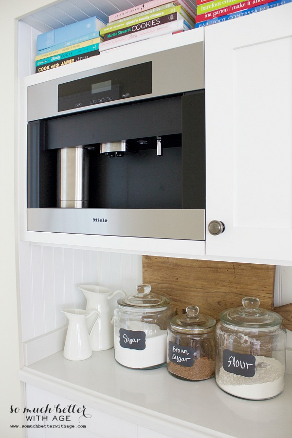 Miele coffee maker / Mini butler pantry updates | somuchbetterwithage.com