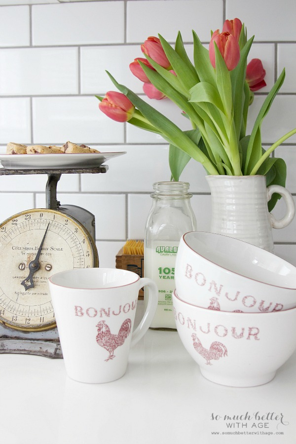 Bonjour cups and bowls | somuchbetterwithage.com