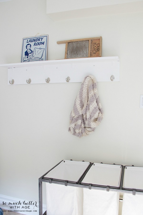 Laundry room makeover with before and after photos