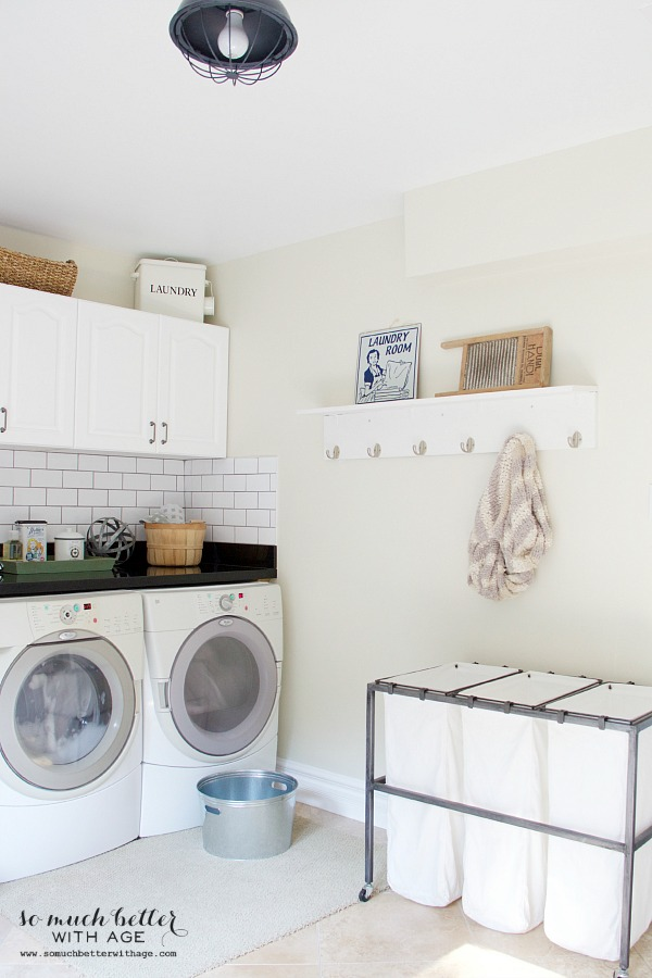 White vintage laundry room
