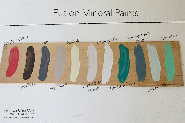 Fusion Mineral Paint Colors