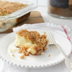 Hot Milk Cake with Brown Sugar & Coconut Topping