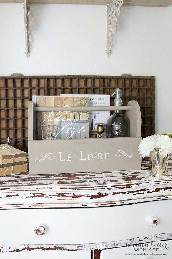 Le liver wooden caddy | somuchbetterwithage.com