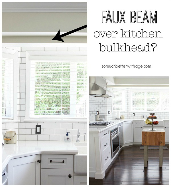 Faux Beam Over Kitchen Bulkhead Wood Beam Inspiration