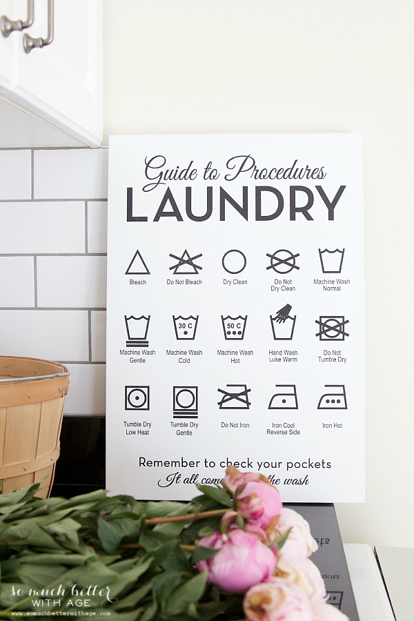 10 Kitchen And Home Decor Items Every 20 Something Needs: Beautiful Wooden Laundry Guide Artwork + Giveaway