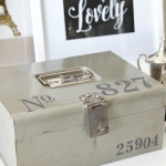 Stencilled Vintage Cash Box