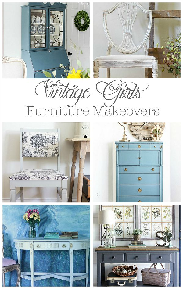 vintage girls furniture makeovers