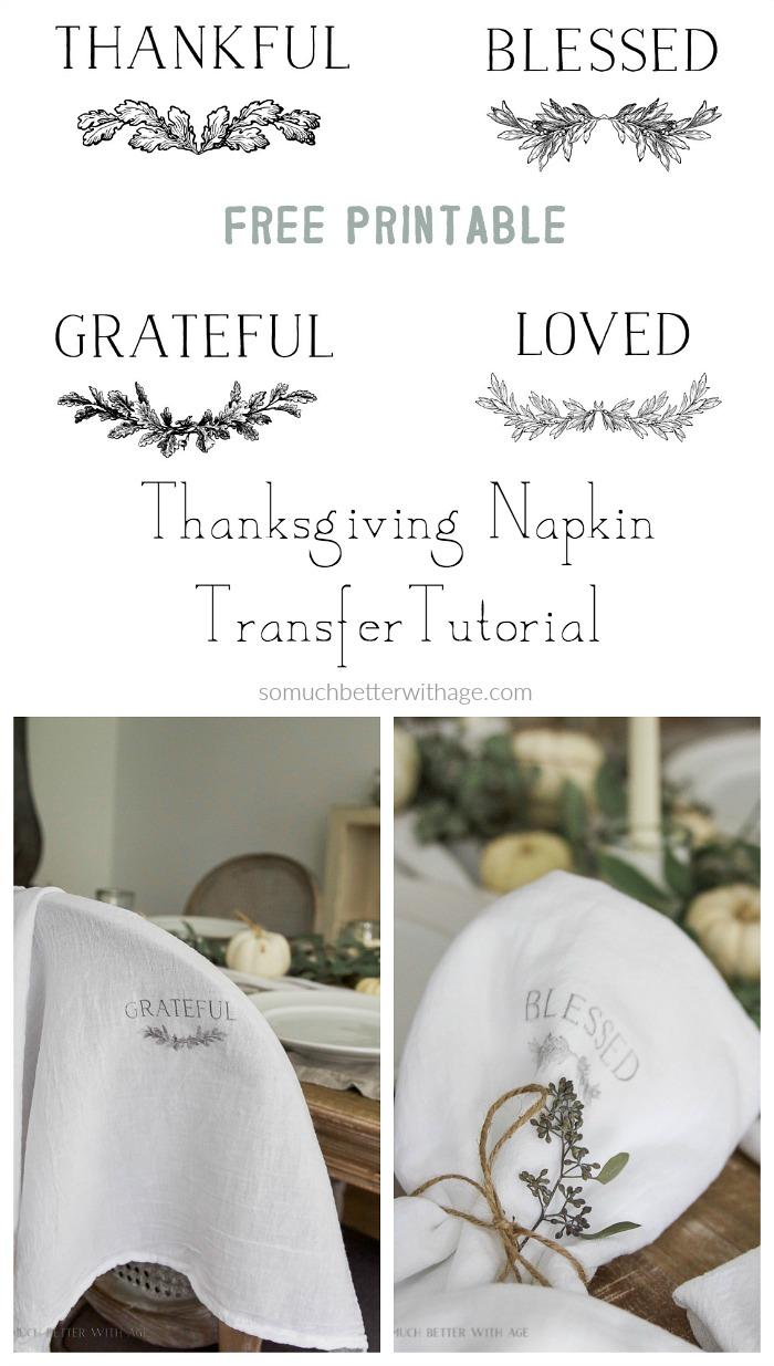 - Thanksgiving napkin transfer tutorial