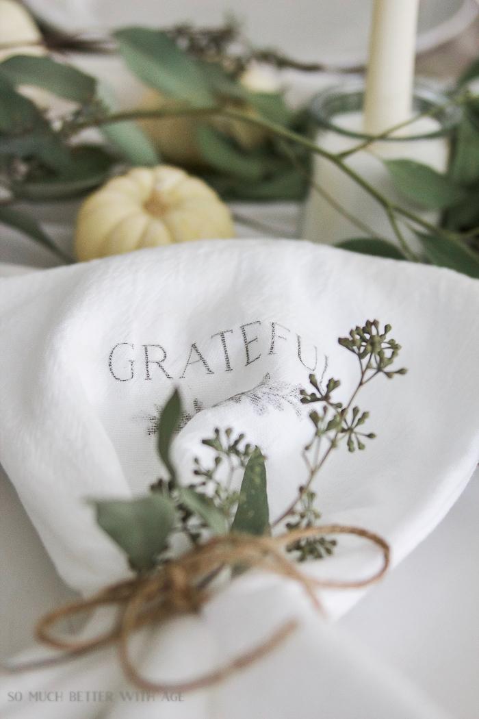 Thanksgiving Napkin Transfer Tutorial So Much Better