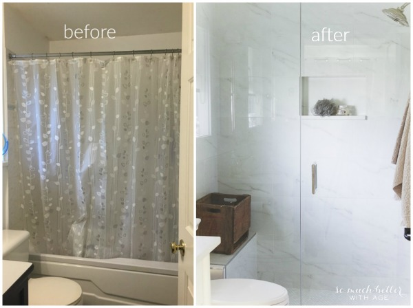Faux Carrara Marble Master Ensuite So Much Better With Age