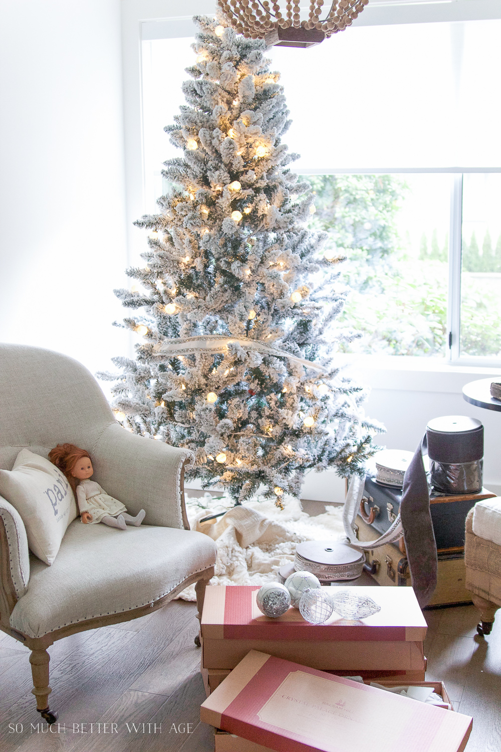 Two Flocked Christmas Trees A Review So Much Better