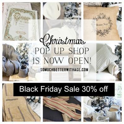 Black Friday Sale – Christmas Pop Up Shop + Giveaway