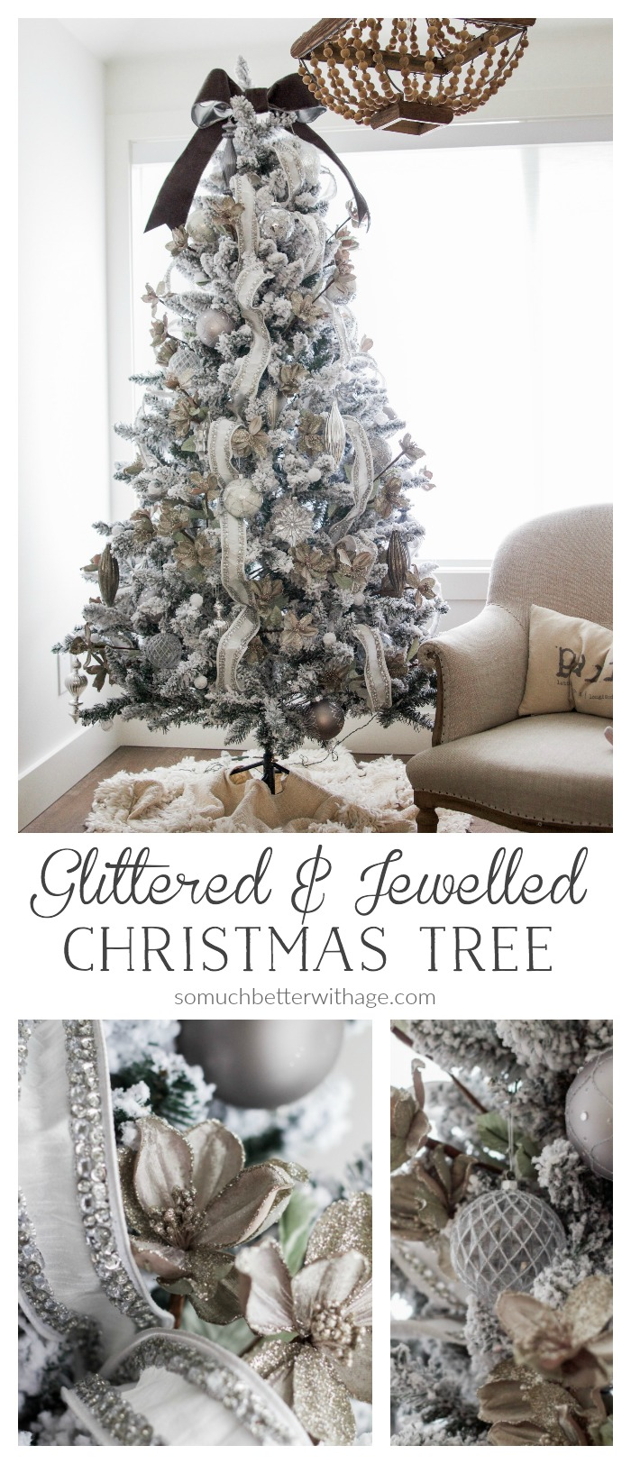 Glittered Jewelled Christmas Tree