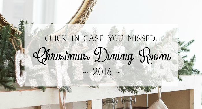 Christmas Tour 2016 - Dining Room