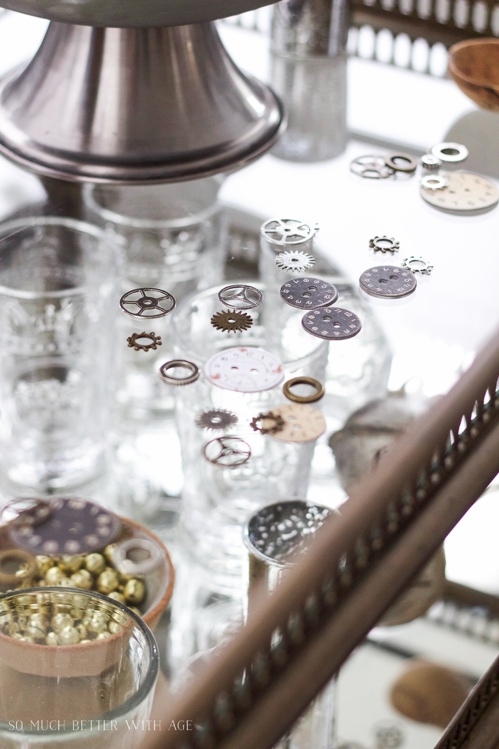 Clock gears for decor /A New Year's Eve Party Bubbly Bar with Party Tips