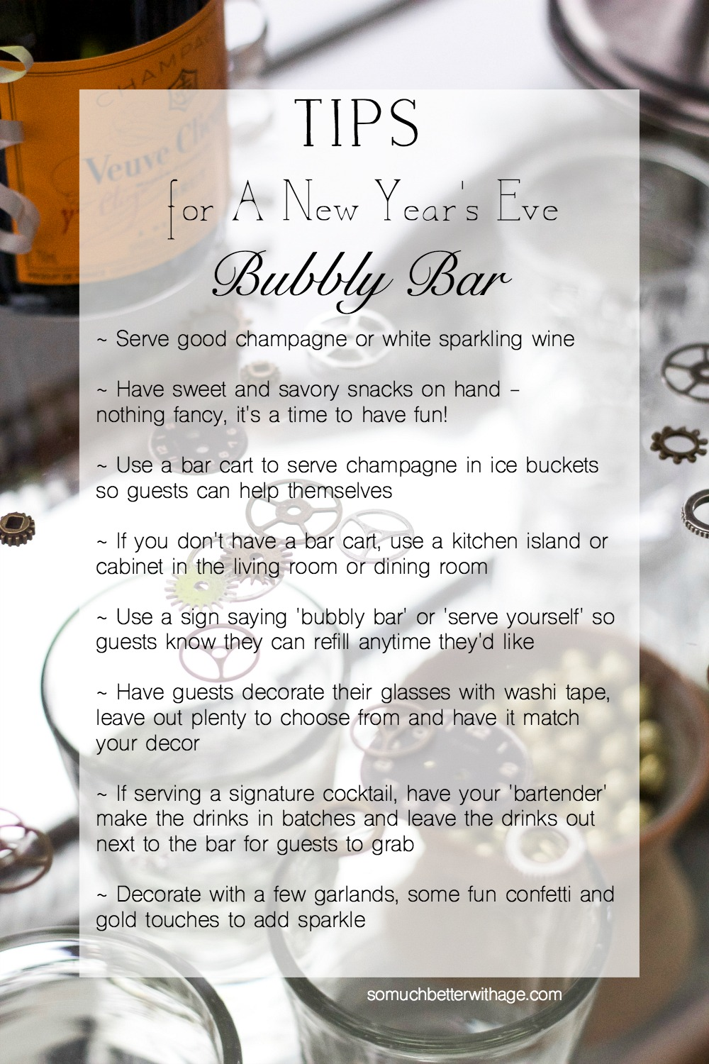 Tips for a New Year's Eve Bubbly Bar
