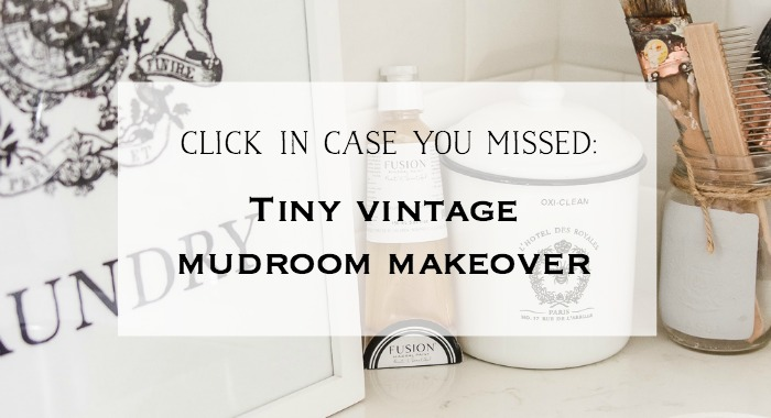 Tiny Vintage Mudroom Makeover