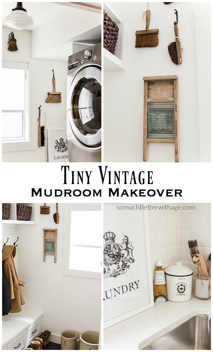 Tiny Vintage Mudroom Makeover